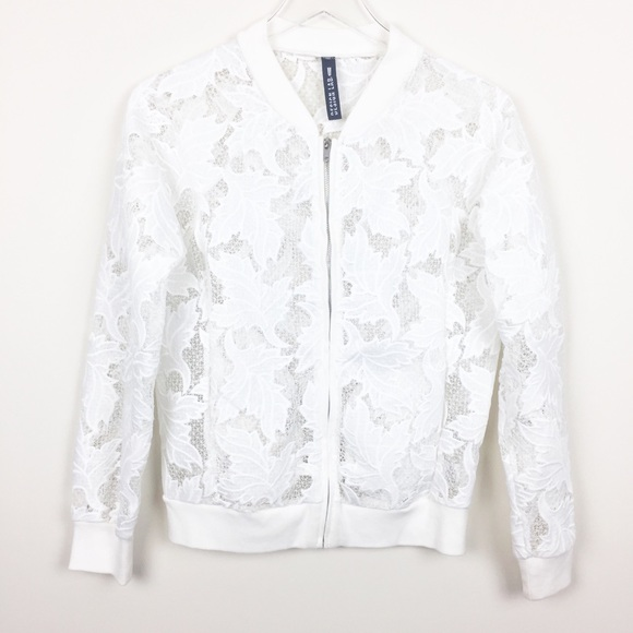 Design Lab Lord & Taylor Jackets & Blazers - Design Lab | Lord & Taylor Lace Bomber Jacket
